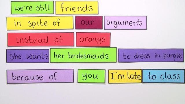 Complex Prepositions: because of, in spite of, instead of (Übungsvideo)
