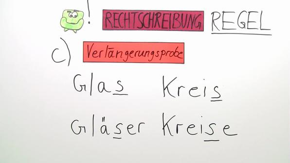 Schreibung des s-Lautes - Deutsch online lernen