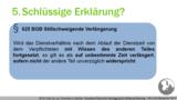 VR 1.6.8 Was fällt beispielsweise begrifflich unter die Willenserklärung?  Teil 2