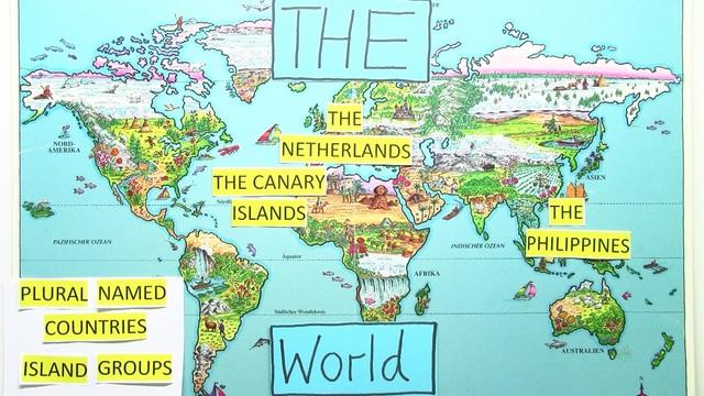 Bestimmter Artikel – the mit geographischen Bezeichnungen