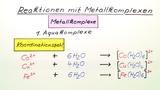 Reaktionen mit Metallkomplexen