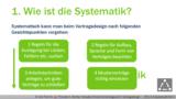 VR 2.3.4 Nach welchen Systemgrundsätzen geht man beim Vertragsdesign vor? Teil 1