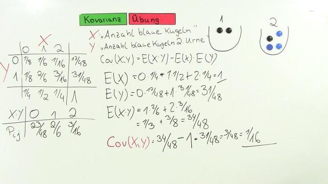 statistik video  kovarianz uebung naturwissenschaften