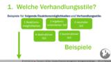 VR 2.4.5 Welche unterschiedlichen Verhandlungsphasen und Verhandlungsstile unterscheidet man z.B.?