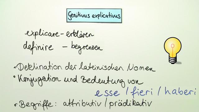 Genitivus explicativus – Genitiv als nähere Bestimmung