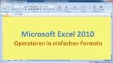 Lektion 04 Excel 2010 Operatoren