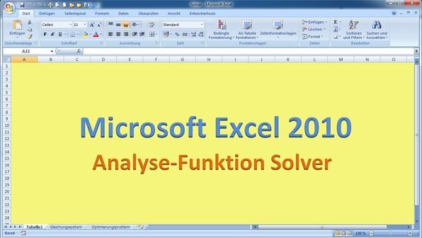 Lektion 23 excel 2010 solver