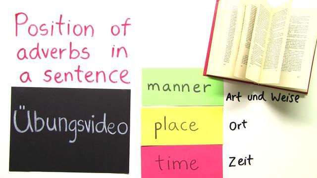 Adverbs of Place, Time and Manner – Satzstellung bei mehreren Adverbien (Übungsvideo)