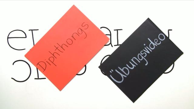 Pronunciation – Diphthongs (Übungsvideo)