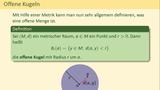 Metrische Räume (Teil 2 von 3) - offene Mengen