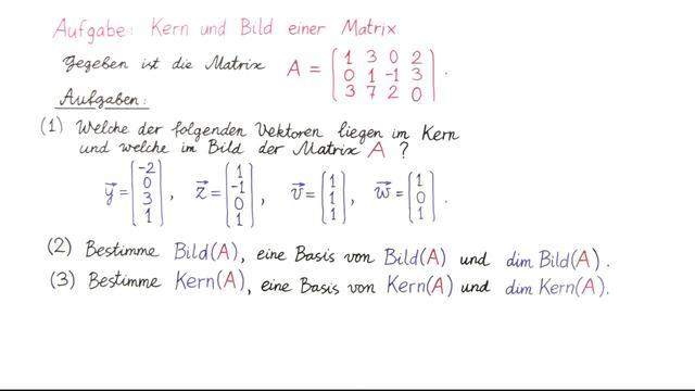 Matrix Kern Berechnen : aufgabe 6 kern und bild einer matrix ~ Themetempest.com Abrechnung