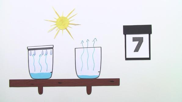 Wasser kondensiert