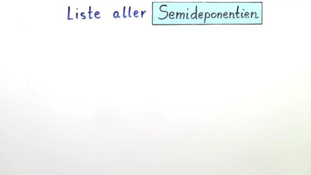 Semideponentien (Übungsvideo)