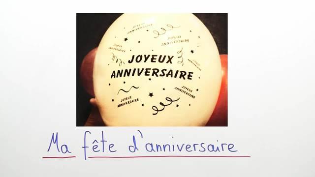 Einladungen schreiben – ma fête d'anniversaire