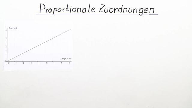 Proportionale Zuordnungen – Einführung (Vertiefungswissen)