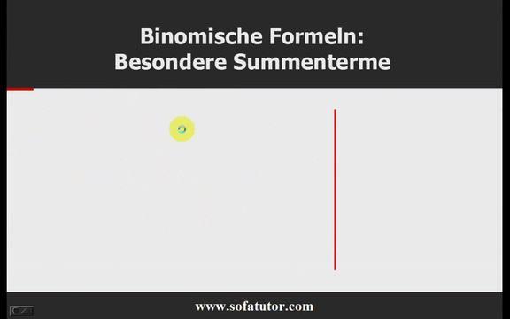 Binomische Formeln – Übung