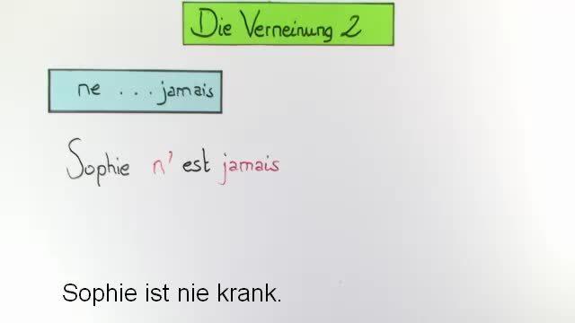 Verneinung – Präsens (2)