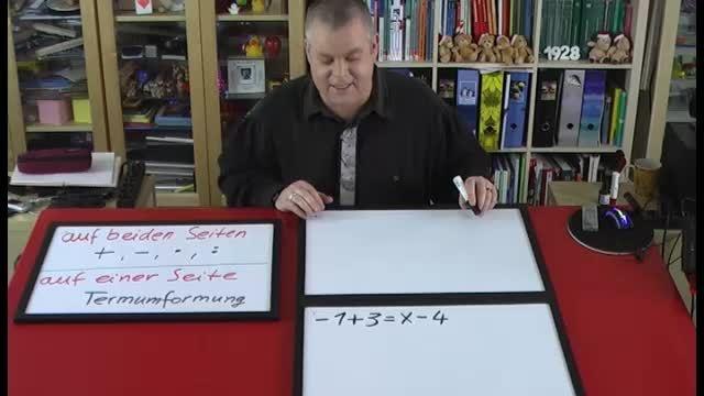 Lineare Gleichungen lösen – Beispiel (3)
