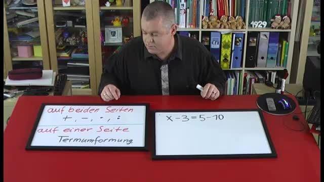 Lineare Gleichungen lösen – Beispiel (4)