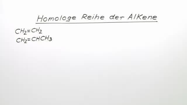 homologe reihe der alkene chemie online lernen. Black Bedroom Furniture Sets. Home Design Ideas