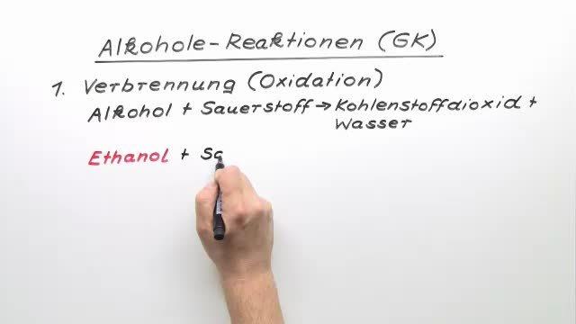Alkohole – Reaktionen (Vertiefungswissen)