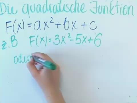 Quadratische Funktionen – Eigenschaften