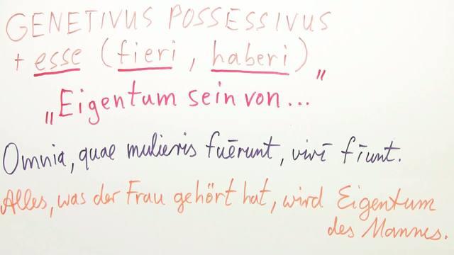 esse mit Genitivus possessivus - übertragene Bedeutung