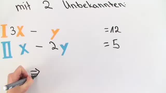 Lösen von Gleichungssystemen mit 3 Unbekannten