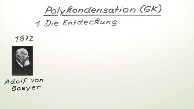 Polykondensation – Synthese von Polyestern und Polyamiden