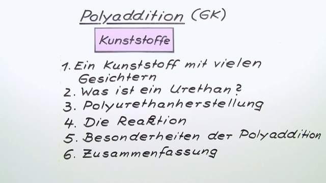 Polyaddition (Vertiefungswissen)