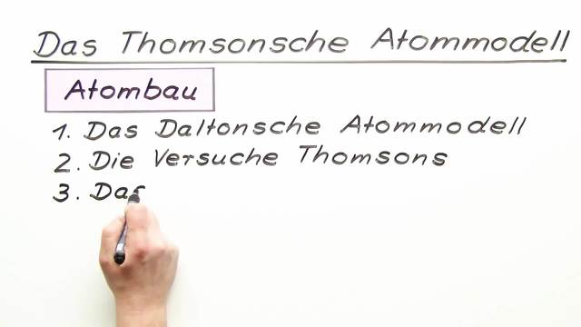 Thomsons Atommodell