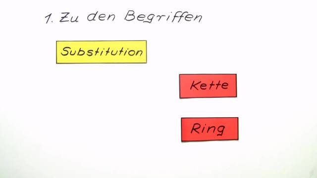 Nucleophile Substitution an Kette und Ring
